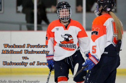 Game Time  The Midland University women s hockey team hosts the University  of Iowa in a two-game series at Sidner Ice Arena beginning on Friday night. 5f55e26a0a1