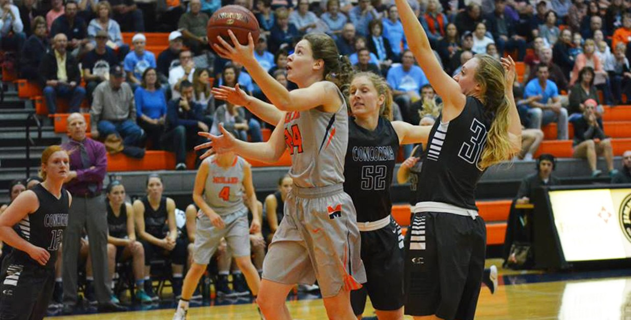 Photo for Lady Warriors edged by Mount Marty in GPAC basketball tilt