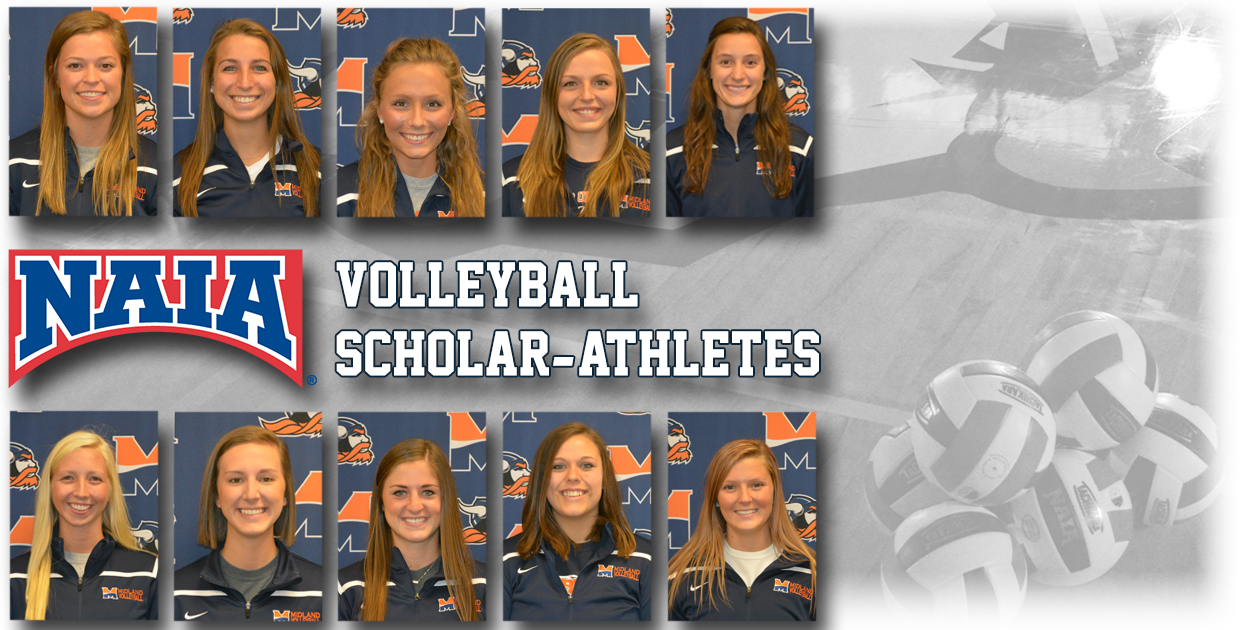 Photo for Midland Volleyball leads NAIA with 10 Scholar-Athlete recipients