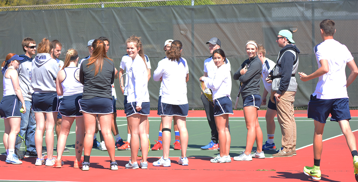 Photo for Tennis seasons end at GPAC postseason tournament