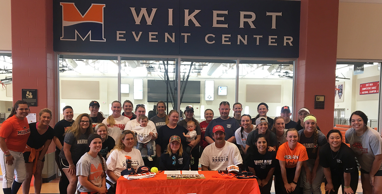 Photo for Midland softball partners with Team IMPACT to sign Montanna Garule