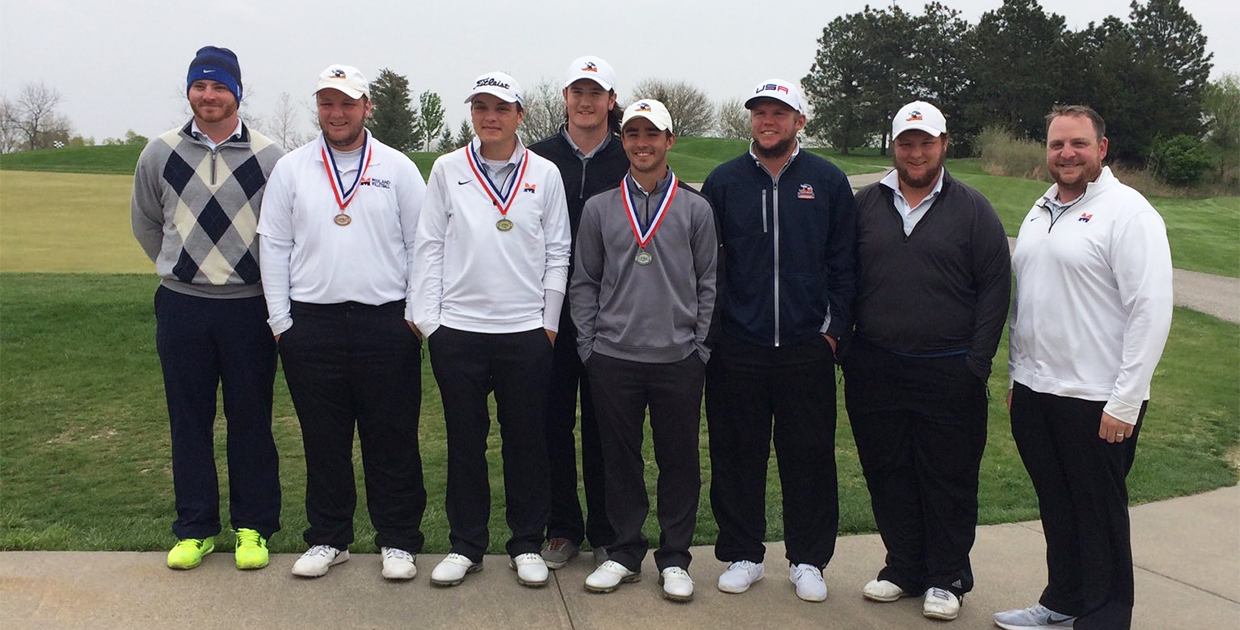 Photo for Midland golf places fourth at GPAC Championship, Vest ties for second