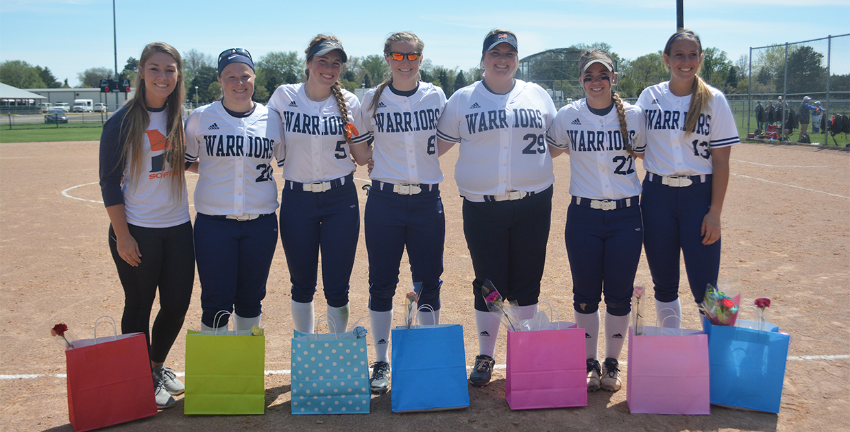 Photo for Lady Warriors sweep Chargers on Senior Day