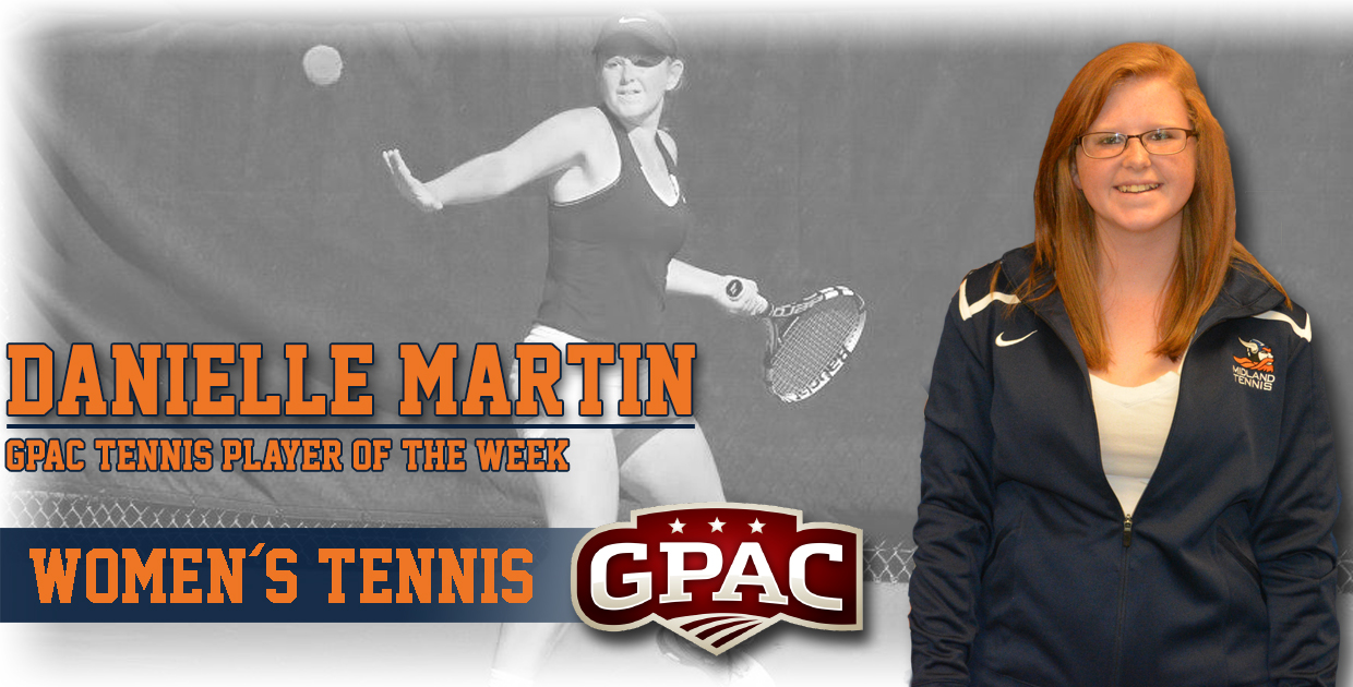 Photo for Martin named GPAC Women's Tennis Player of the Week