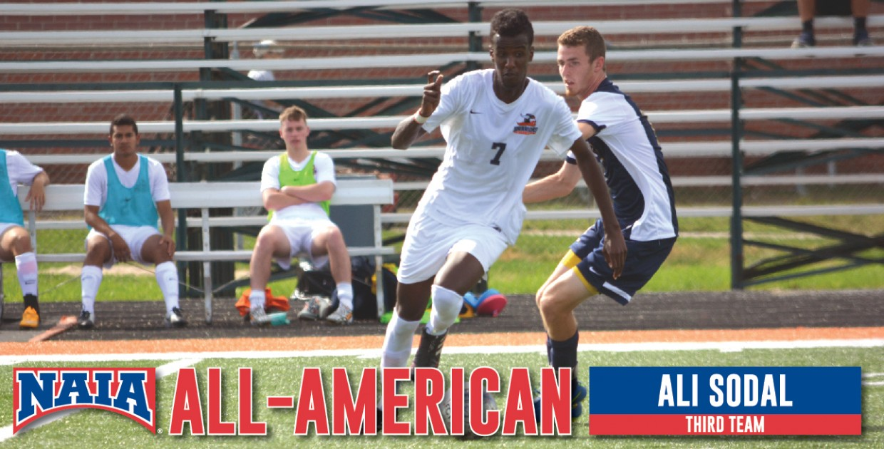 Photo for Sodal named 2016 NAIA Men's Soccer All-American