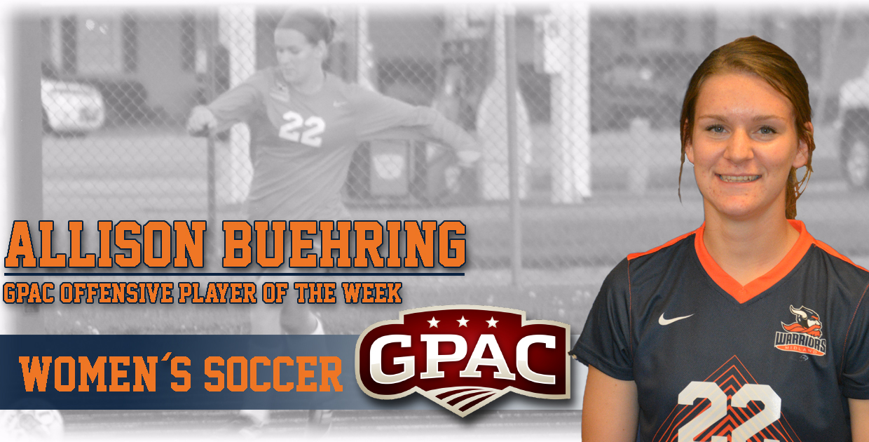 Photo for Buehring named GPAC Women's Soccer Offensive Player of the Week
