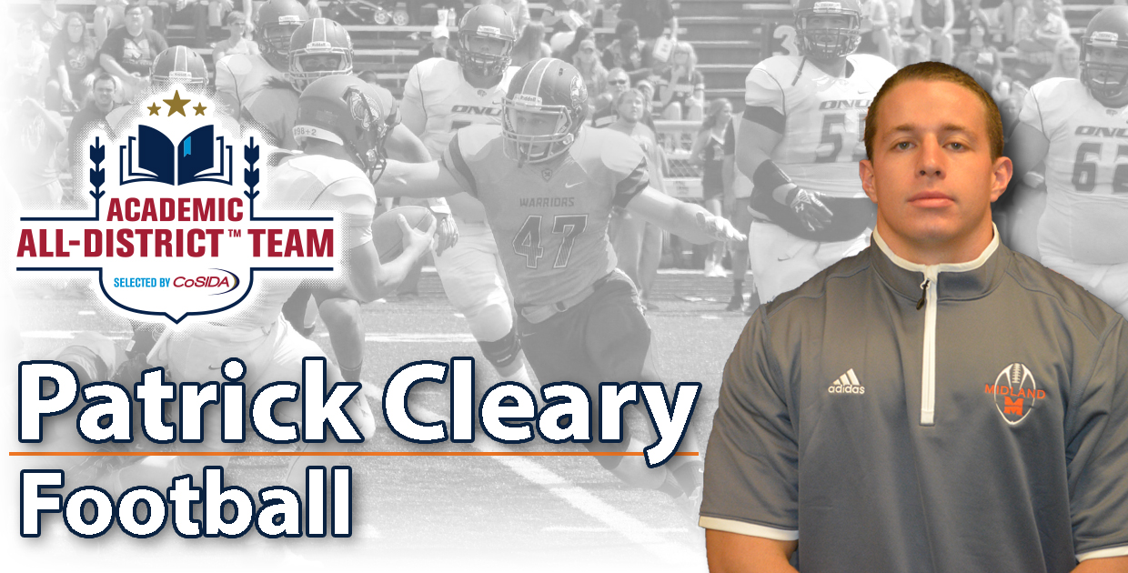 Photo for Cleary named to 2016 CoSIDA Academic All-District Football Team