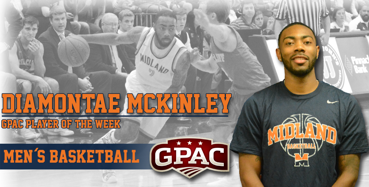 Photo for McKinley named GPAC Men's Basketball Player of the Week