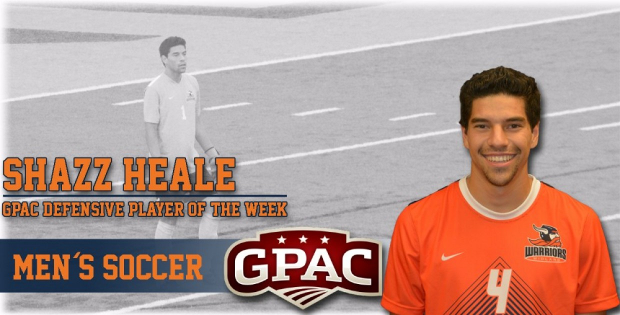 Photo for Heale named GPAC Men�s Soccer Defensive Player of the Week