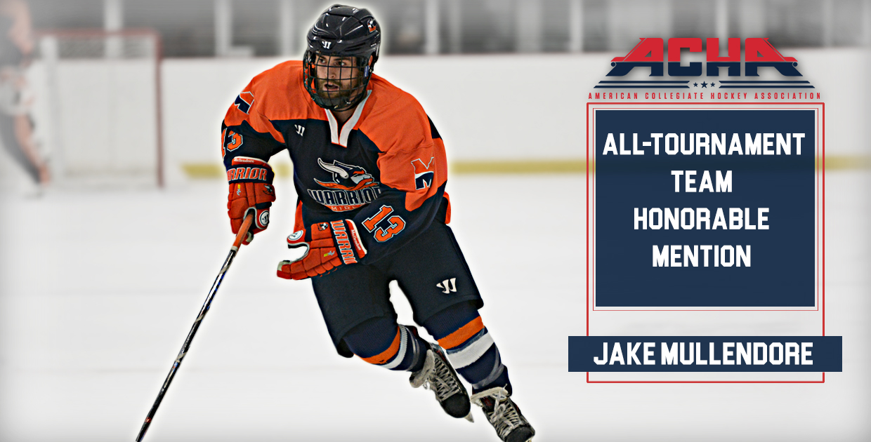 Photo for Mullendore named to ACHA National Championship All-Tournament Team