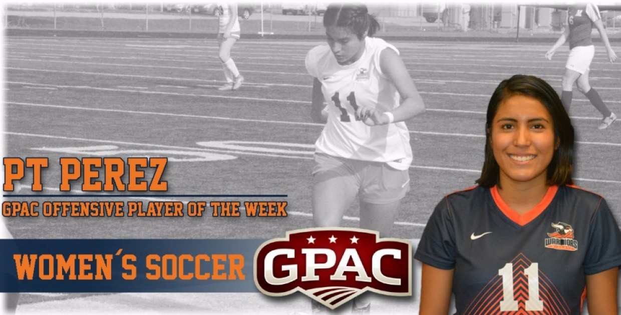 Photo for Perez named GPAC Women�s Soccer Offensive Player of the Week