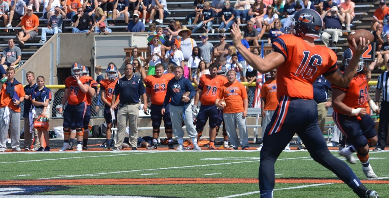 Photo for Midland football makes statement in Jamrog�s debut, thumps Olivet 49-21