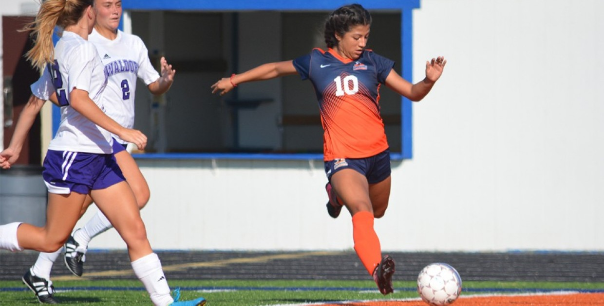 Photo for Rodriguez scores twice in first collegiate game, lifts Lady Warriors to 3-1 victory