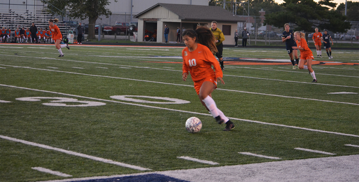 Photo for Rodriguez�s hat trick paces Lady Warriors� 4-1 victory
